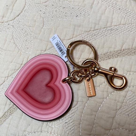 Coach heart Keychain 💗